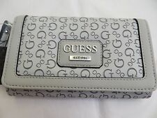 NWT GUESS BRIDGEWATER Wristlet Wallet Purse Handbag Bag Gray