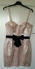 BNWT LIPSY black bow dress prom party wedding baby pink & silver thread RRP£65