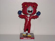 """HOOTER THE OWL Mascot """"Rocky"""" Bobble Head Temple University Limited *IN STOCK*"""