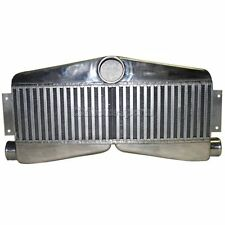 """CXRacing TWin Turbo Intercooler 27""""x13""""x3.5"""" 2-In 1-Out For Camaro Chevy"""