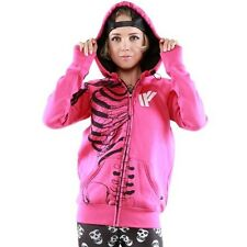 NWT Iron Fist Athletic IFA PINK Skeleton Zip-UP Hoodie Size: S Small