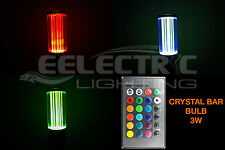 Super BRIGHT 16 Color Changing RGB E26 E27 Crystal Bar LED Light Bulb 3W