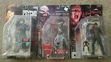 LOT of 3 New Movie Maniacs FREDDY/ NORMAN BATES/ BLAIR WITCH - McFarlane MOC