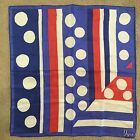 Vintage Vera Neumann Scarf Red White Blue Patriotic Ladybug Square G9
