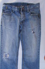 Lee Cooper Men Fashion Jeans Classic Rip Denim Pants Light Blue Boot Cut W30 L33