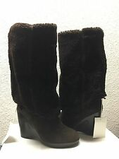 UGG COLLECTION FIORENTINA ESPRESSO OVER THE KNEE WEDGE USA 8 / EU 39 /UK 6.5 NIB