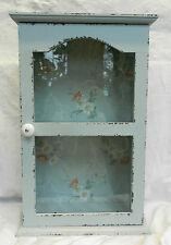 Large Wooden Display Cabinet  / Cupboard with Glass Door - Shabby Chic - BNWT