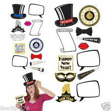 12 piece Set NEW YEAR'S EVE New Year Party Picture Booth PHOTO FUN SIGNS Props