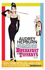 Breakfast At Tiffany's movie poster : 11 x 17 inches - Audrey Hepburn