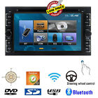 """Digital NEW 6.2"""" Double 2DIN Car DVD Player Bluetooth Ipod Touch Stereo Radio HD"""