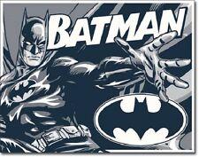 """16"""" X 12.5"""" TIN SIGN BATMAN DUOTONE COLOR D.C. COMICS METAL SIGN NEW"""