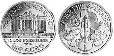AUSTRIA FILARMONICA 1,5 EURO 1 ONCIA ARGENTO 999/1000 ANNO 2014 FIOR DI CONIO