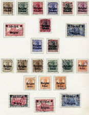 GERMAN OCC. of BELGIUM 1914-16 Specialised collection, used