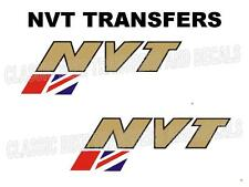 NVT Norton Villiers Triumph Tank Transfers Decals Motorcycle Sold as a Pair
