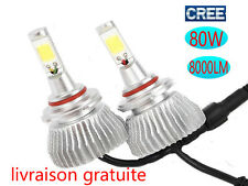 2x CREE LED Lampe light Kit Ampule Feux Voiture Phare Blanc 6000K H1 H4 H7 H11