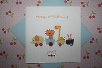 Handmade Personalised Boys Animal Train 1st 2nd 3rd 4th 5th Birthday Card