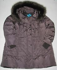 NWT Womens Plus 1 MADISON Gunmetal Gray Jacket Long Down Puffer Coat Sz 1X