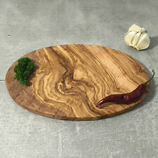 Medium Cutting Board Olive Wood / Breakfast Serving Board / oval, handcrafted