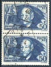 """FRANCE STAMP TIMBRE 398 """" CLEMENT ADER 50F OUTREMER EN PAIRE """" OBLITERE TB  M483"""