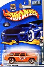 Hot Wheels 106 Chevy Nomad, 2002 Red Line Tires 4/4, Variant Card Mint