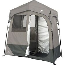 Portable 2 Room Shower Toilet Changing Shelter Tent Privacy Hiking Camping Gear