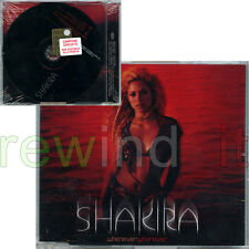 "SHAKIRA ""WHENEVER WHEREVER"" RARE CDsingle PROMO - NEW SEALED"