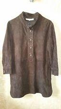 tunique top blouse en daim DAREL marron taille 38