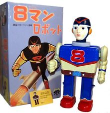8 Man Robot Tin Toy Battery Operated Yonezawa Japan Reproduction