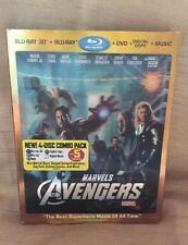 The Avengers (Blu-ray/DVD, 2012, 4-Disc Set, Includes Digital Copy; 3D/2D) New