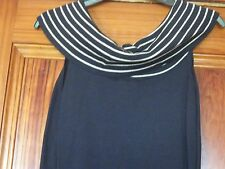 NEXT Ladies Sleeveless Dressy Navy and White Top  Size 12 Brand New with Tags