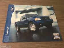 "MINT ORIGINAL 2003 FORD RANGER SALES BROCHURE 11"" X 9"" (R-99 / O)"