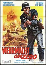 WEHRMACHT ORA ZERO MANIFESTO CINEMA GUERRA WAR WEITERPLATTE NAZI MOVIE POSTER 2F