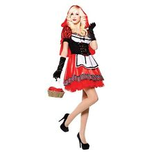 Women's Little Red Riding Hood Costume - Ladies Sweetie Halloween Fancy Dress