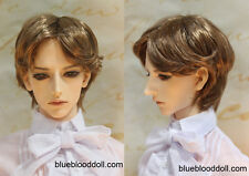 "1/3 bjd 9-10"" doll head brown synthetic mohair short wig Soom Pullip Taeyan"