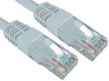 RJ45 cat 6 network lead utp pvc inj moulded cable white 25mtr