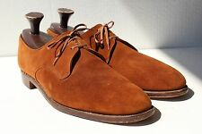 Tricker's 13C Gentleman's Bench Made Brown Suede Dress Shoes - England - $495.00