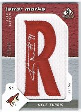 2008-09 SP GAME-USED LETTER MARKS PATCH AUTOGRAPH #LM-KT KYLE TURRIS 14/50 !! R