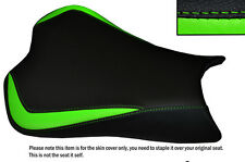 DESIGN 3 L GREEN & BLACK CUSTOM FITS KAWASAKI NINJA ZX6R 636 09-15 SEAT COVER