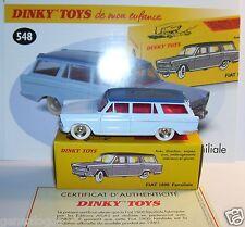 DINKY TOYS ATLAS FIAT 1800 FAMILIALE BICOLORE BLEU 1/43 REF 548 IN BOX
