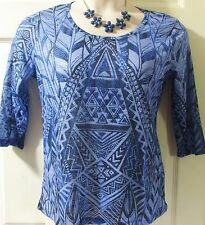 """BRAND NEW..ONQUE CASUALS EMBELLISHED SIZE MEDIUM TOP..42"""" BUST"""