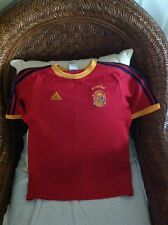 Vintage Rare Raúl #7 Adidas Spain Red Soccer/futbol  Jersey Size M Youth