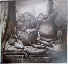"FERNANDO BOTERO  ""FRUIT "" STILL LIFE OFFSET LITHOGRAPH HAND SIGNED SIGNATURE"