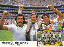 (33296) Coupe Du Monde De Football Carte Postale Mexico 2 - 0 Bulgarie / 1986