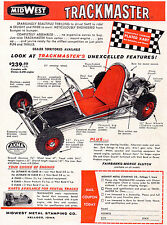 New!  Vintage Beautiful Color 1960 MidWest Trackmaster Go-Kart Ad