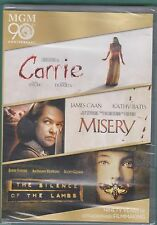 Carrie/Misery/The Silence of the Lambs (DVD, 2014, 3-Disc Set) Brand NEW