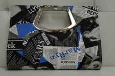 Marilyn Monroe Blue Print Clutch Style W/ Silver Handle Handbag Free Shipping