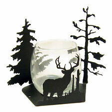 Buck Deer black metal candle wrap