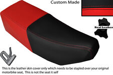 BLACK & RED CUSTOM FITS SUZUKI CP 50 80 LEATHER DUAL SEAT COVER ONLY