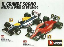 X0818 Williams FW 14 - Ferrari 641/2 - Bburago - Pubblicità 1995 - Advertising