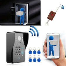 "7"" Wireless Video Intercom System Doorbell Door Phone Security w/ RFID IR Camera"